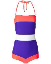 Roksanda Ilincic Multi Block Colour Talgo Swimsuit - Lyst