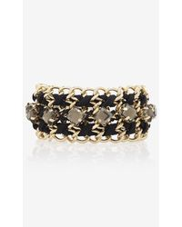 Express Woven Chain Embellished Toggle Bracelet - Lyst
