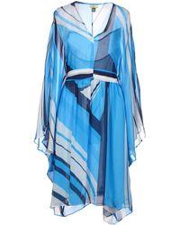 Issa Blue Knee-length Dress - Lyst