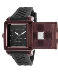 Ritmo Mundo - Women's Puzzle Automatic Black Silicone And Dial Maroon Case - Lyst