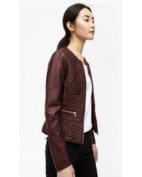 French Connection | Medina Stitch Faux Leather Jacket | Lyst