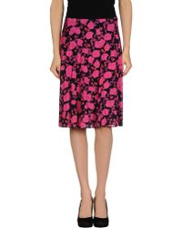 Nina Ricci Knee Length Skirt - Lyst