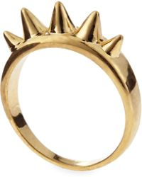 Alexander McQueen Golden Studs Ring - Lyst