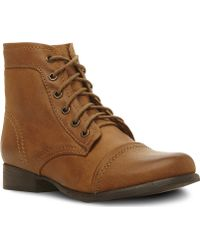 Steve Madden Tuundra Lace Up Boots Tanleather - Lyst