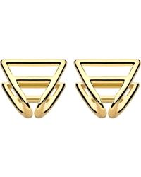 Coops London - Triangle Squeeze On Earrings - Lyst