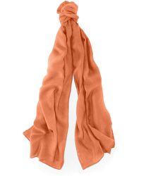 Ralph Lauren Orange Cashmere Scarf - Lyst