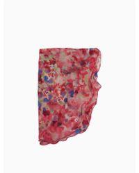 CALVIN KLEIN 205W39NYC - Watercolor Ruffle Scarf - Lyst