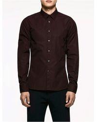 CALVIN KLEIN 205W39NYC - Platinum Platinum Poplin Shirt - Lyst