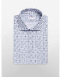 CALVIN KLEIN 205W39NYC - Infinite Stretch Geometric Print Dress Shirt - Lyst