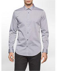 CALVIN KLEIN 205W39NYC - Slim Fit Infinite Stretch Chambray Shirt - Lyst