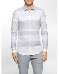 CALVIN KLEIN 205W39NYC - Slim Fit Wide Stripe Shirt - Lyst