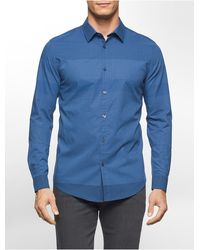 CALVIN KLEIN 205W39NYC - Slim Fit Multicolor Check Shirt - Lyst