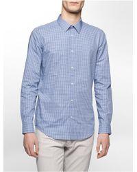 CALVIN KLEIN 205W39NYC - Slim Fit Shadow Grid Shirt - Lyst