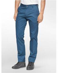 CALVIN KLEIN 205W39NYC - Ck One Slim Fit Zip Calvary Twill Pants - Lyst