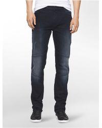 Calvin Klein Jeans Slim Straight Terni Moto Jeans - Blue