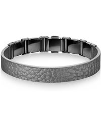 CALVIN KLEIN 205W39NYC - Collection Grain Calf Strap Bracelet - Lyst