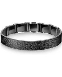 Calvin Klein - Collection Grain Calf Strap Bracelet - Lyst
