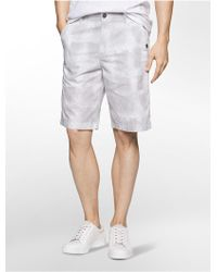 CALVIN KLEIN 205W39NYC - Ghost Grid Shorts - Lyst