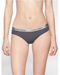 CALVIN KLEIN 205W39NYC - Underwear Logo Cotton Stretch Thong - Lyst