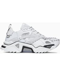 CALVIN KLEIN 205W39NYC - White Strike 205 Leather Low Top Trainers - Lyst