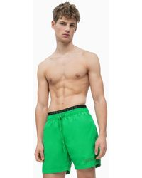1fbbce84cd703 CALVIN KLEIN 205W39NYC Double Waistband Swim Shorts in Pink for Men - Lyst