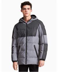 Calvin Klein - Ck Id Reflective Long Puffer Jacket - Lyst