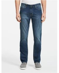 CALVIN KLEIN 205W39NYC - Jeans Slim Straight Leg Authentic Blue Wash Jeans - Lyst