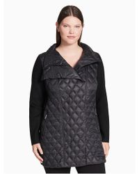 Calvin Klein | Plus Size Down Asymmetrical Walker Jacket | Lyst