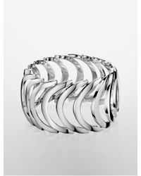 Calvin Klein   Platinum Body Stainless Steel Bracelet   Lyst