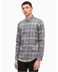 CALVIN KLEIN 205W39NYC - Slim Fit Dobby Plaid Shirt - Lyst