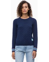 Calvin Klein - Wool Blend Cable Jumper - Lyst