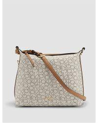 Calvin Klein | Hudson Monogram Hobo | Lyst