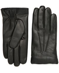 Canali - Black Nappa Leather Gloves - Lyst