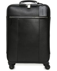 007bbab3c760 Canali - Black Tumbled Calfskin Leather Spinner Suitcase - Lyst