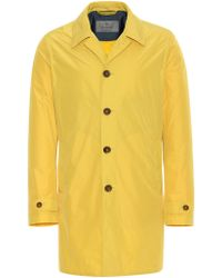 Canali Yellow Water-repellent Raincoat