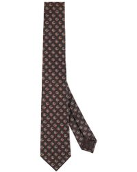 Gucci - Silk Tie With Double G And Hearts - Lyst