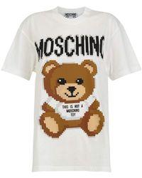 Moschino - T-shirt Teddy Bear Pixel Capsule - Lyst