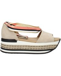 Hogan - Sandals Women Beige - Lyst