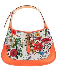 Gucci - Jackie Hobo Bag With Flora Print - Lyst