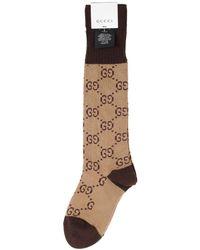 Gucci - GG Pattern Cotton Blend Socks - Lyst