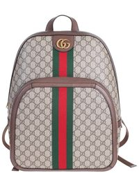 bc5c365545b Gucci - Gg Supreme Ophidia Backpack With Green And Red Web Ribbon And  Double G -