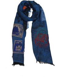 Etro - Scarves Men Blue - Lyst