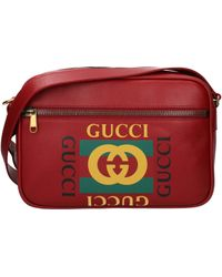 7c8e39d4fe2d Gucci Ssima Faux-leather Diaper Bag W/ Changing Pad in Gray for Men ...