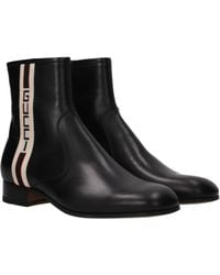 b2c3389c9 Gucci Board Leather Fur Lined Ankle Boot in Black for Men - Lyst