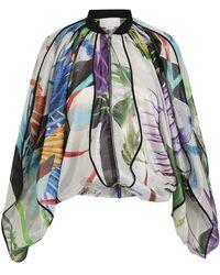 Genny - Floral Print Jacket - Lyst