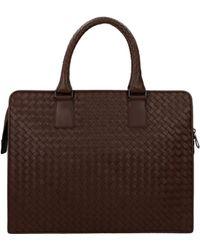 Bottega Veneta Work Bags Men Brown