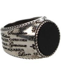 Givenchy Rings Zodiac Ring Men Silver - Metallic
