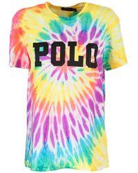 Ralph Lauren - Tie-dye Cotton T-shirt - Lyst