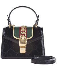 f2959f3eb Gucci Sylvie Mini Velvet Cross Body Bag in Red - Lyst