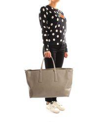 e87bd6e366 Longchamp Le Pliage Large Nylon Shoulder Tote Bag Dark Gray in Gray ...